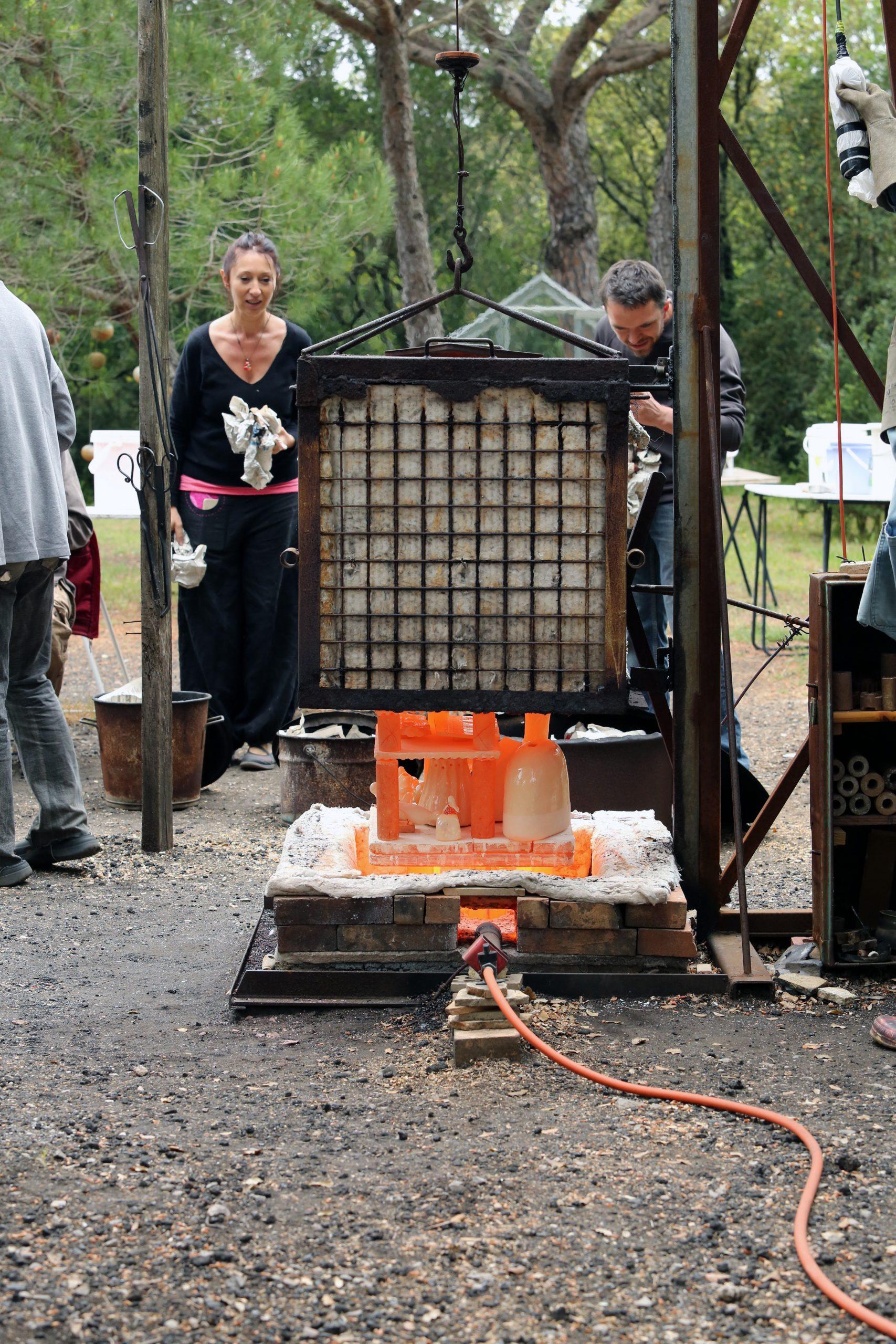 horno cerámica para tecnica de raku